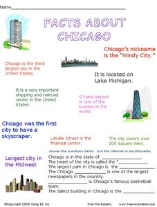 Facts About Chicago Worksheet