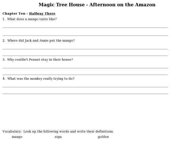 Magic tree house midnight moon lesson plans House interior – Magic Tree House Worksheets