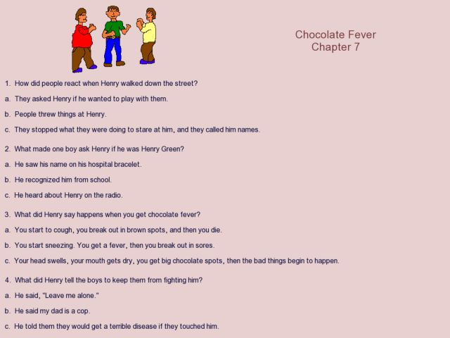 Chocolate Fever Chapter 7 3rd 6th Grade Worksheet – Chocolate Fever Worksheets