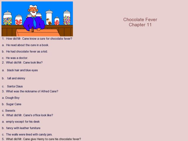 Chocolate Fever chapter 11 3rd 6th Grade Worksheet – Chocolate Fever Worksheets