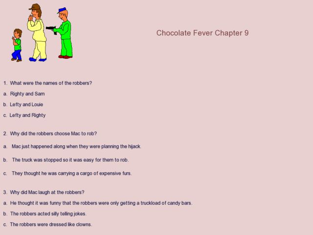 Chocolate Fever Chapter 9 4th 6th Grade Worksheet – Chocolate Fever Worksheets