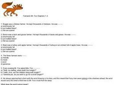 Fantastic Mr Fox Lesson Plans Worksheets Lesson Planet