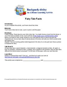 Fairy Tale Facts Worksheet