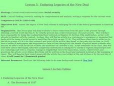 Enduring Legacies of the New Deal Lesson Plan