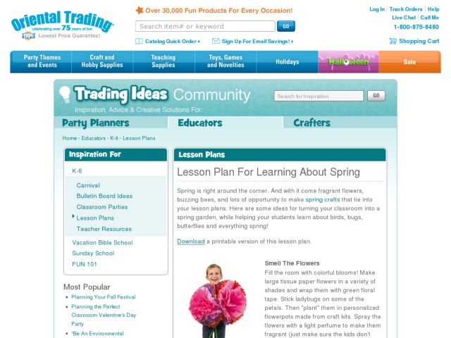 Lesson Plan for Learning About Spring Lesson Plan