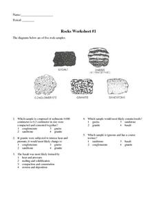 Rocks Worksheet #1 Worksheet