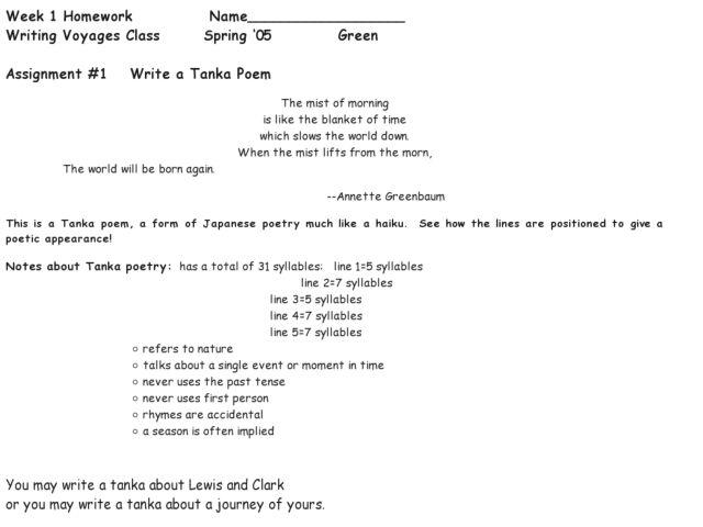 write a tanka poem worksheet for 6th grade lesson planet. Black Bedroom Furniture Sets. Home Design Ideas