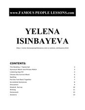 Yelena Isinbayeva Worksheet
