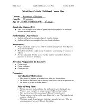 Resources of Indiana Lesson Plan