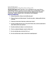 Questions for The Joy Luck Club film, 1993 version Worksheet