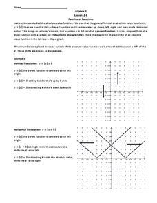 Families Of Functions Worksheet