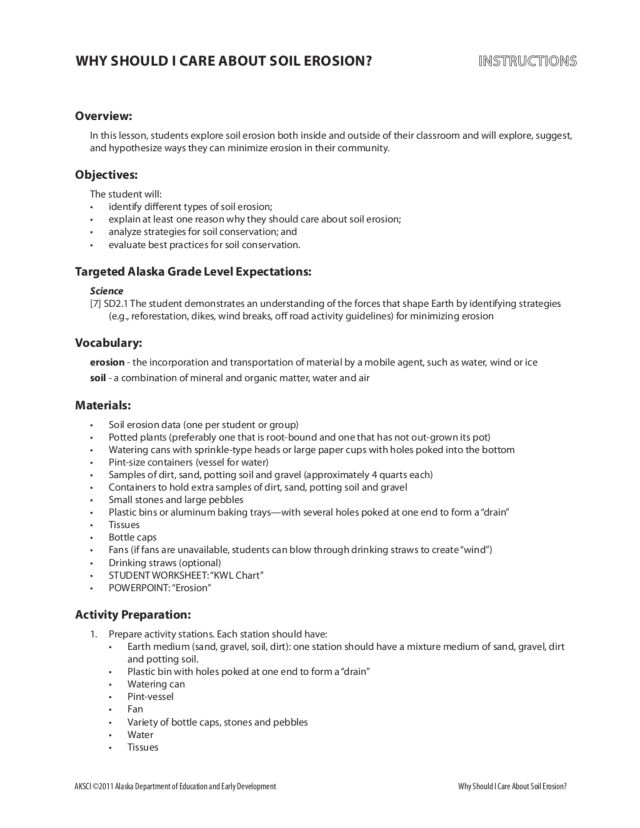 Soil Conservation Lesson Plans Worksheets Lesson Planet