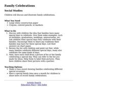 Family Celebrations Lesson Plan