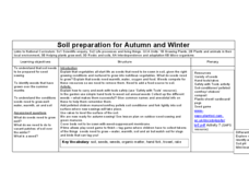Soil preparation for autumn and winter lesson plan for 4th for Soil 6th grade lessons