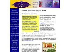 Special Education Plan Lesson Plan