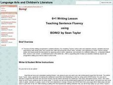 Teaching Sentence Fluency using BOING Lesson Plan