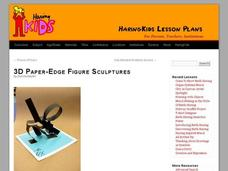 3D Paper-Edge Figure Sculptures Lesson Plan