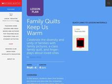 Family Quilts Keep Us Warm Lesson Plan