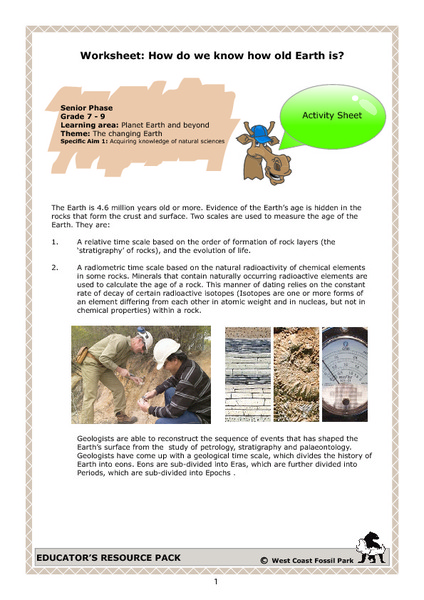 Radiometric Dating Lesson Plans Worksheets Reviewed By Teachers
