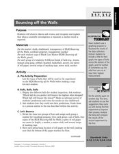 Bouncing off the Walls Lesson Plan