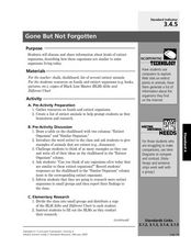 Gone But Not Forgotten Lesson Plan