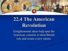The American Revolution: Creating a New Nation Presentation