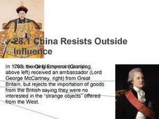 China Resists Outside Influences Presentation