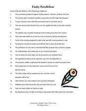 Parallelism Worksheet: Faulty Parallelism 11th   Higher Ed Worksheet   Lesson Planet,