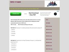 TAKS Math Quiz-Word Problems-Days of the Week Interactive