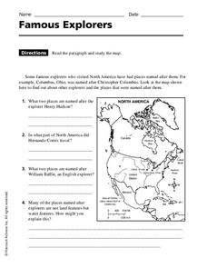 Famous Explorers Worksheet