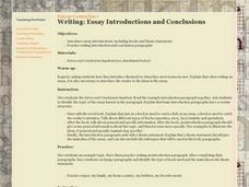 Writing: Essay Introductions and Conclusions Lesson Plan