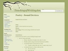 Poetry: Sound Devices Lesson Plan