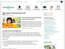 Privacy Rules Lesson Plan
