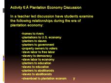 Plantation Economy Discussion: Activity 6 Presentation for ...