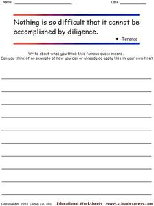 Famous Quotes Worksheet