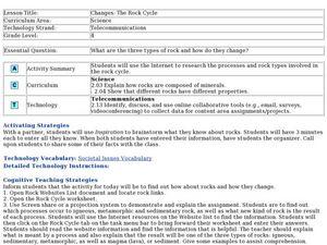 Metamorphic Rock Lesson Plans Worksheets Lesson Planet