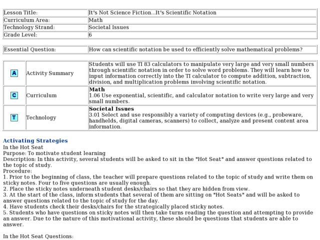 it u0026 39 s not science fiction     it u0026 39 s scientific notation lesson plan for 6th