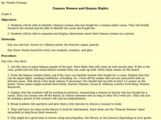 Famous Women and Human Rights Lesson Plan