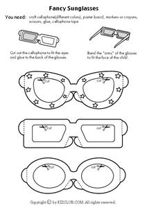 Fancy Sunglasses Worksheet