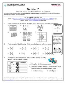 Fantastic Fractions Worksheet