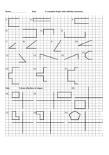 complete shapes with reflective symmetry worksheet for 5th 6th grade lesson planet. Black Bedroom Furniture Sets. Home Design Ideas