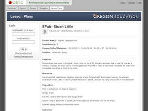 EPub--Stuart Little Lesson Plan