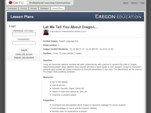 Let Me Tell You About Oregon Lesson Plan