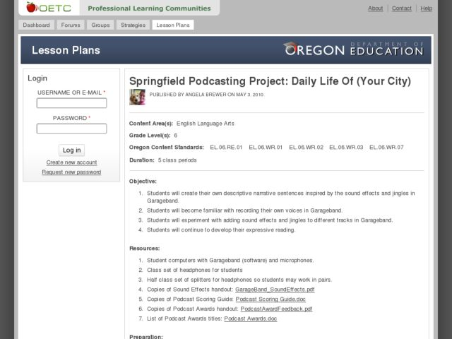 Springfield Podcasting Project: Daily Life Of (Your City