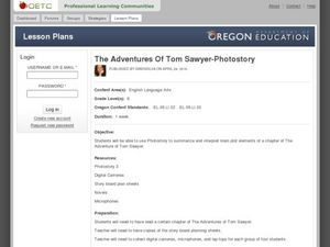The Adventures of Tom Sawyer: Photostory Lesson Plan