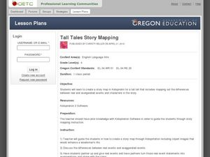 Tall Tales Story Mapping Lesson Plan