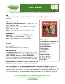 Farm Animals Lesson Plan