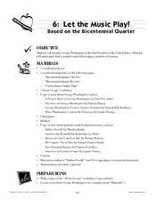 Let the Music Play: Bicentennial quarter reverse Lesson Plan