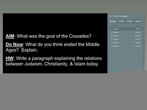Goal of the Crusades Presentation