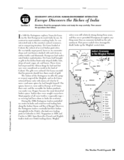 Europe Discovers the Riches of India Worksheet